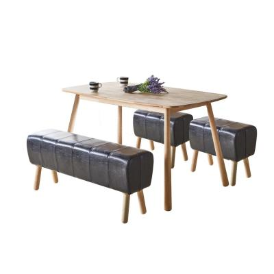 Dessa Black PU and Natural Stool