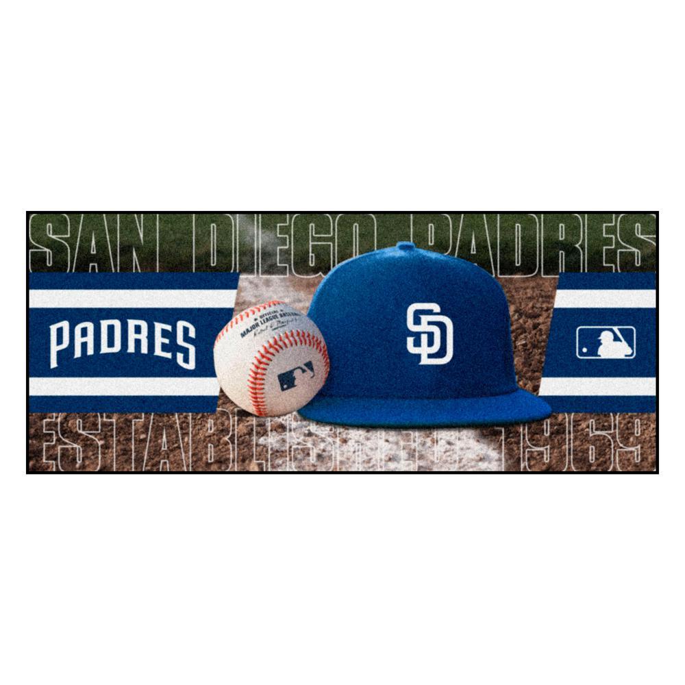 San Diego Padres 3 ft. x 6 ft. Baseball Runner Rug