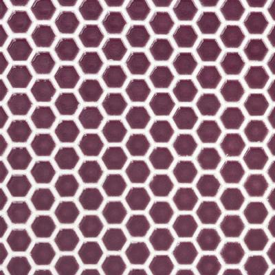 Bliss Edged Hexagon Plum 12 in. x 12 in. x 10 mm Polished Ceramic Mosaic Tile