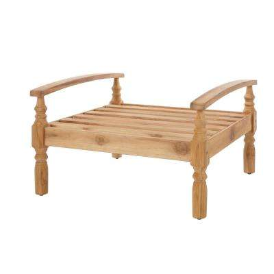 Unfinished Wood - Outdoor Ottomans - Outdoor Lounge Furniture - The ...