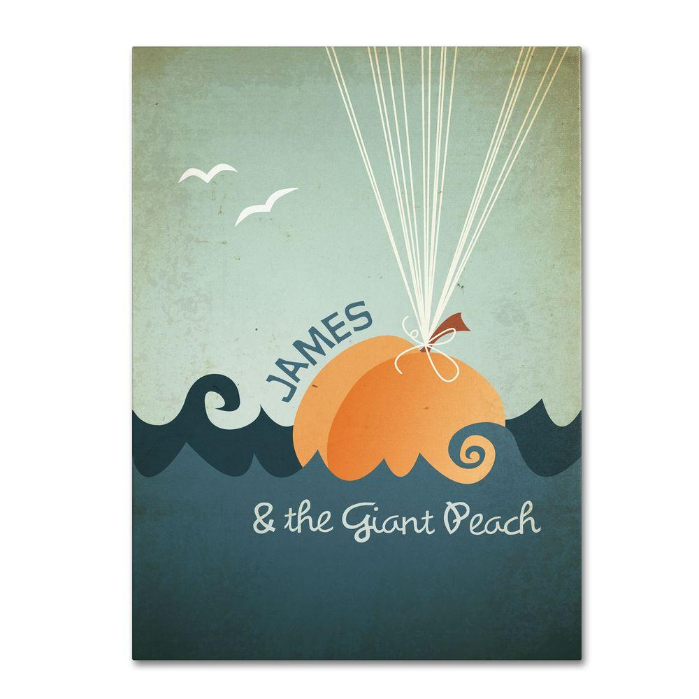 22 in. x 32 in. James and the Giant Peach Canvas