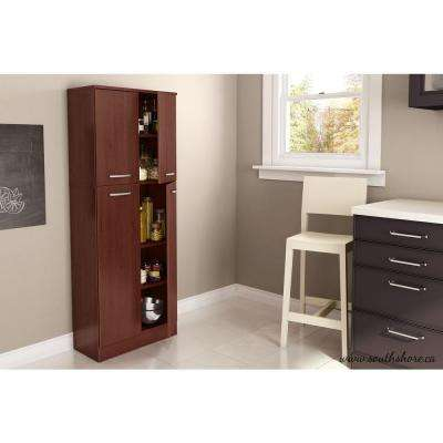Axess 4-Door Laminated particleboard Pantry in Royal Cherry