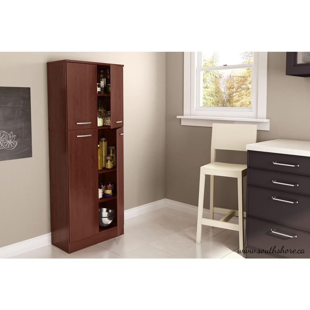 wooden kitchen storage cabinets Axess 4 Door Royal Cherry Food Pantry