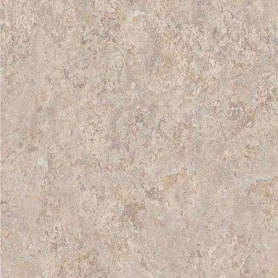 2 in. x 3 in. Laminate Countertop Sample in Silver Travertine with HD Glaze Finish