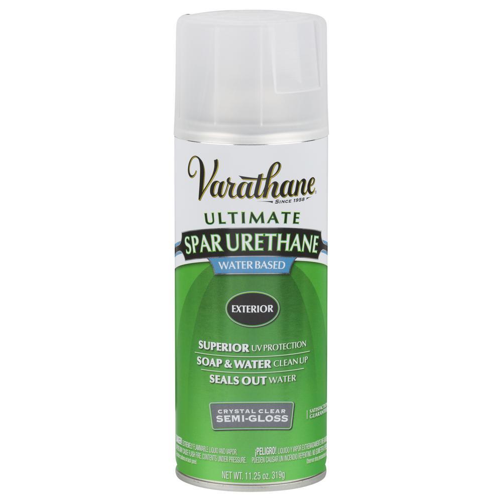 11.25 oz. Clear Semi-Gloss Spar Urethane Spray Paint (6-Pack)