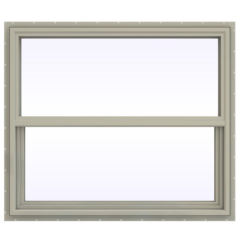 jeld wen 41 5 in x 35 5 in v 4500 series single hung vinyl window tan thdjw143900289 the. Black Bedroom Furniture Sets. Home Design Ideas