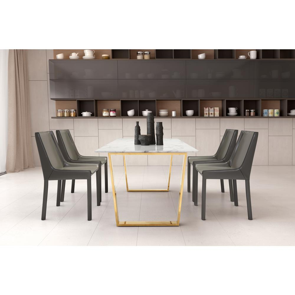ZUO Fashion Stone Gray Dining Chair (Set Of 2)