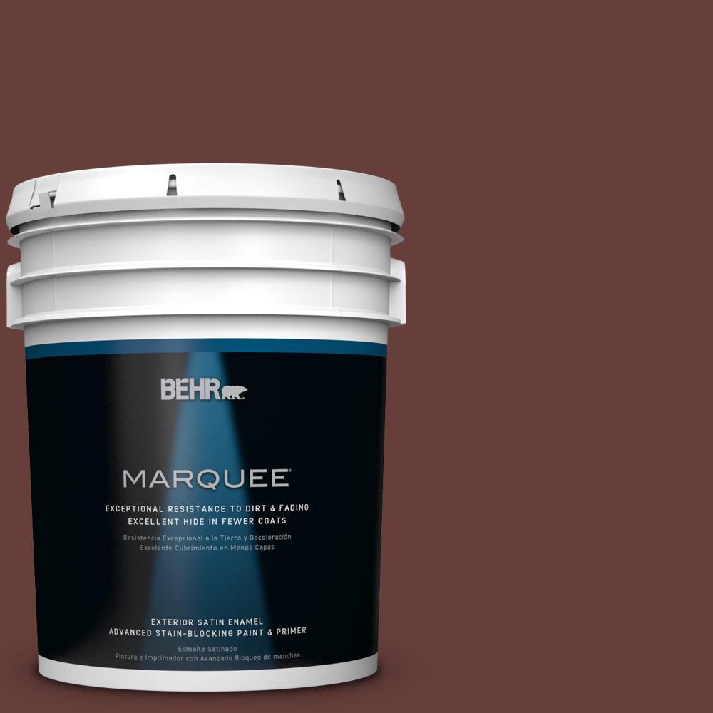 BEHR MARQUEE 5-gal. #PPU2-1 Chipotle Paste Satin Enamel Exterior Paint