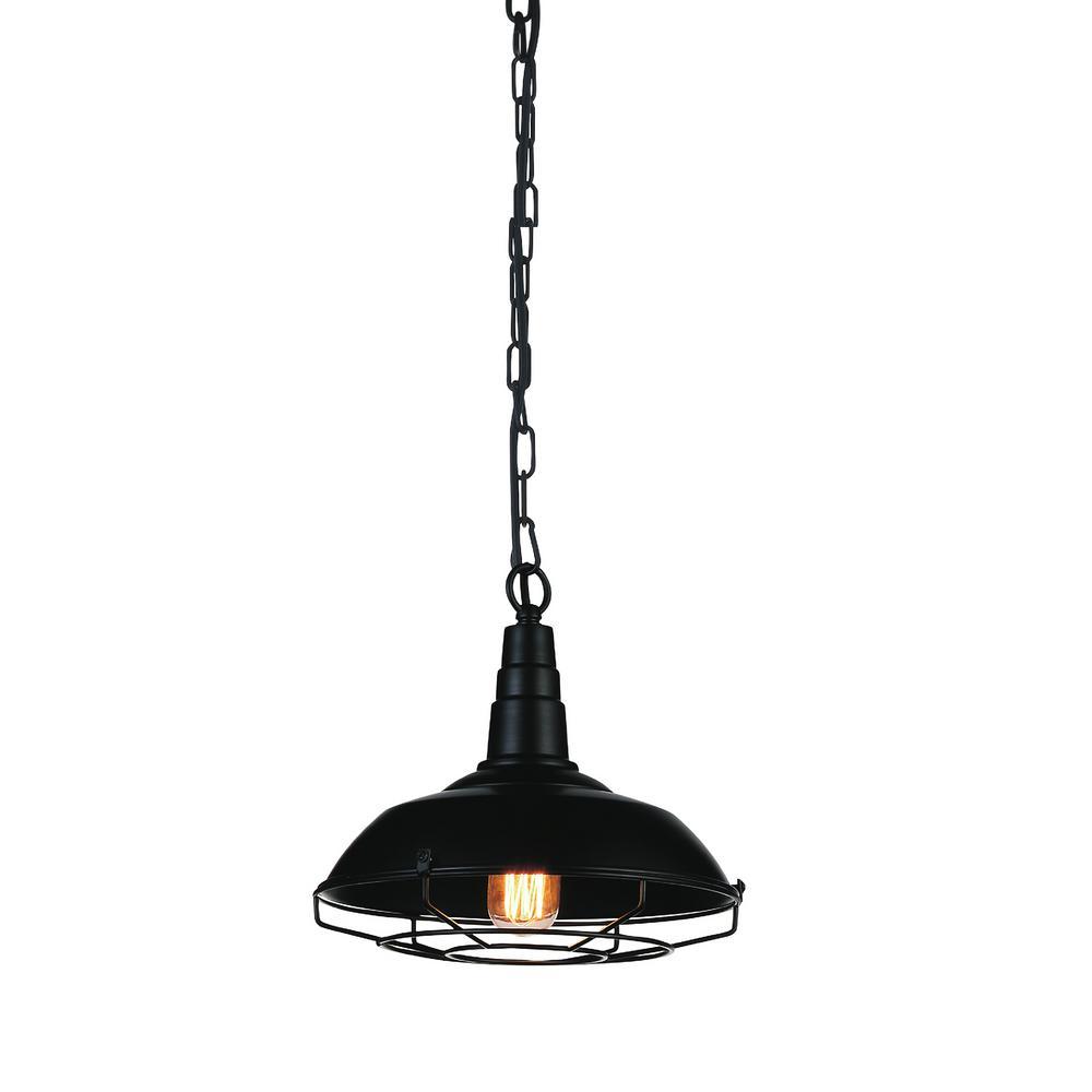 Morgan 1-Light Black Pendant