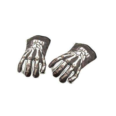"""Large Black and White Cotton Bones Welding Gloves"""