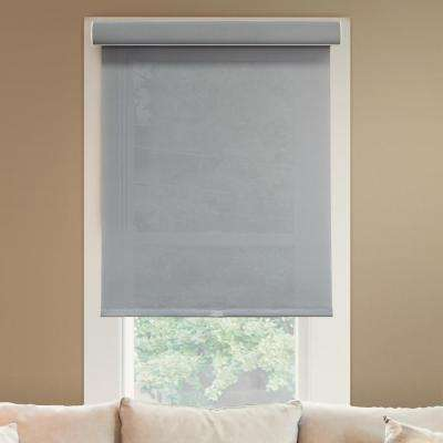 64 in. W x  72 in. L Urban Grey  Light Filtering Horizontal Roller Shade