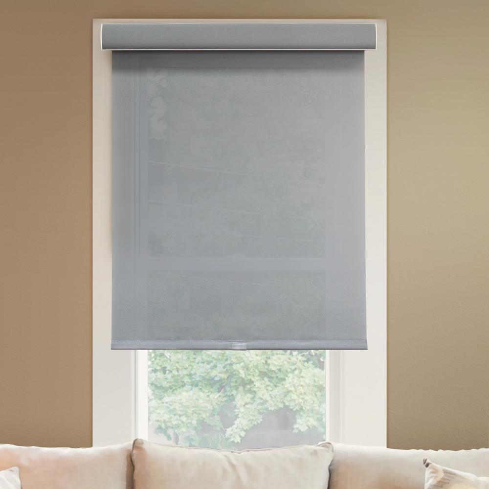68 in. W x  72 in. L Urban Grey  Light Filtering Horizontal Roller Shade