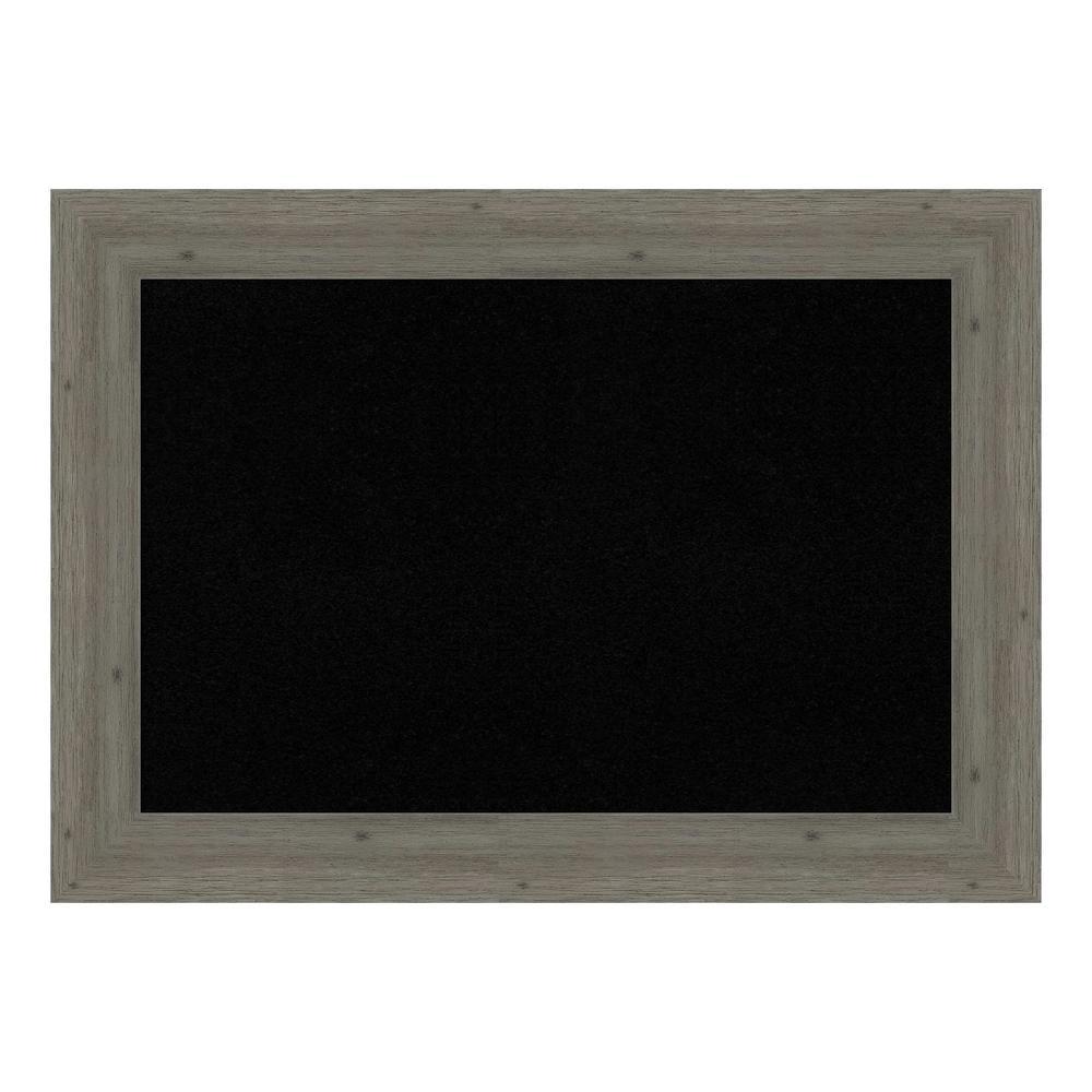 Fencepost Grey Narrow Framed Black Cork Memo Board