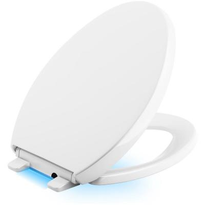 Reveal LED Nightlight Elongated Closed Front Toilet Seat in White