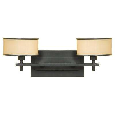 Casual Luxury 2-Light Dark Bronze Vanity Light