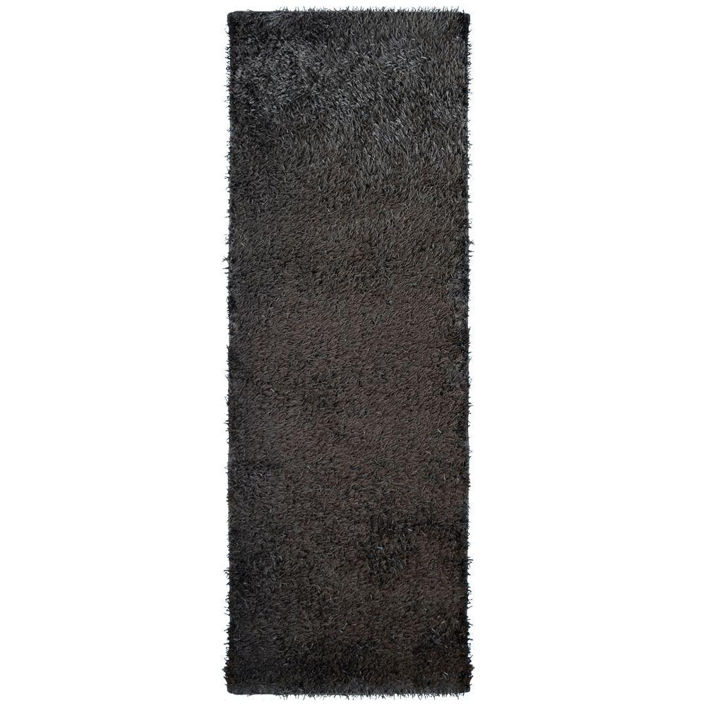 City Sheen Espresso 2 Ft X 12 Runner Rug