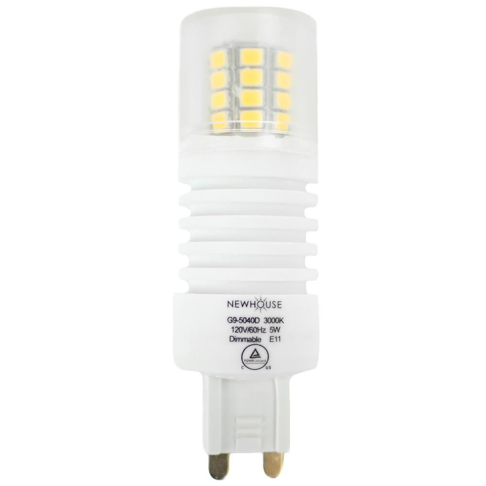 Newhouse Lighting 40W Equivalent Soft White G9 Dimmable LED Light ...