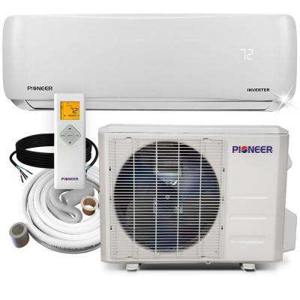 9,000 BTU 3/4 Ton 19.5 SEER Ductless Mini Split Air Conditioner Heat Pump Variable Speed DC Inverter+ System 110/120V