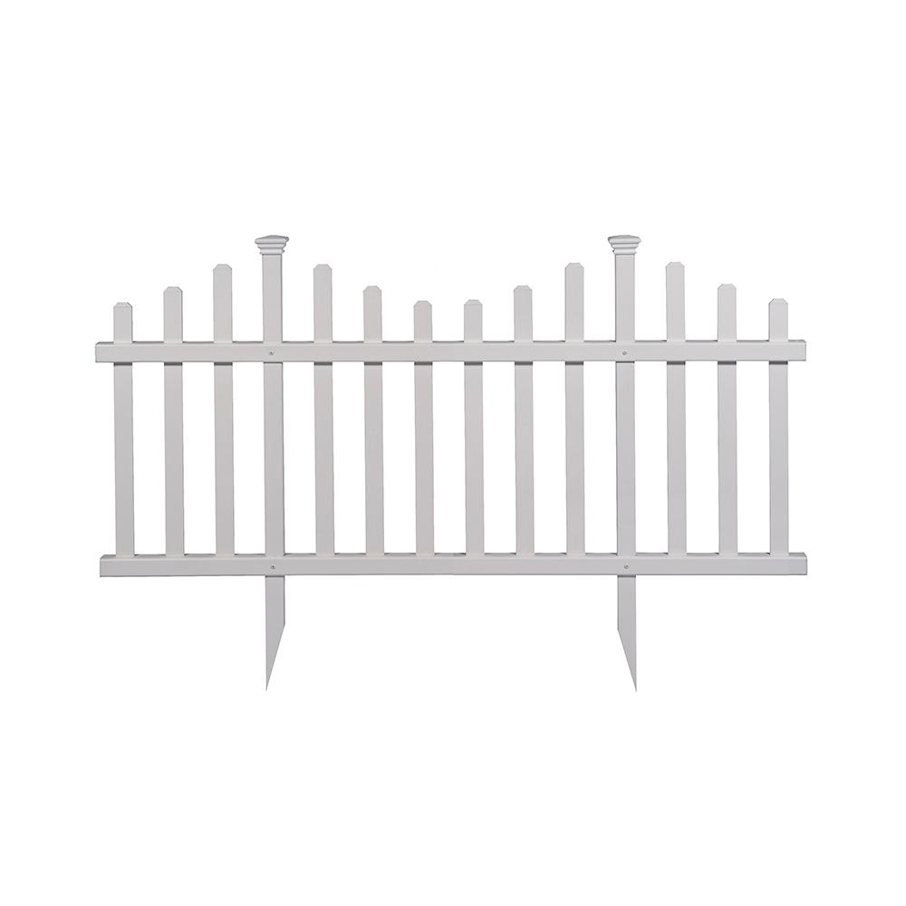 Madison No Dig Vinyl Garden Picket Fence Panel