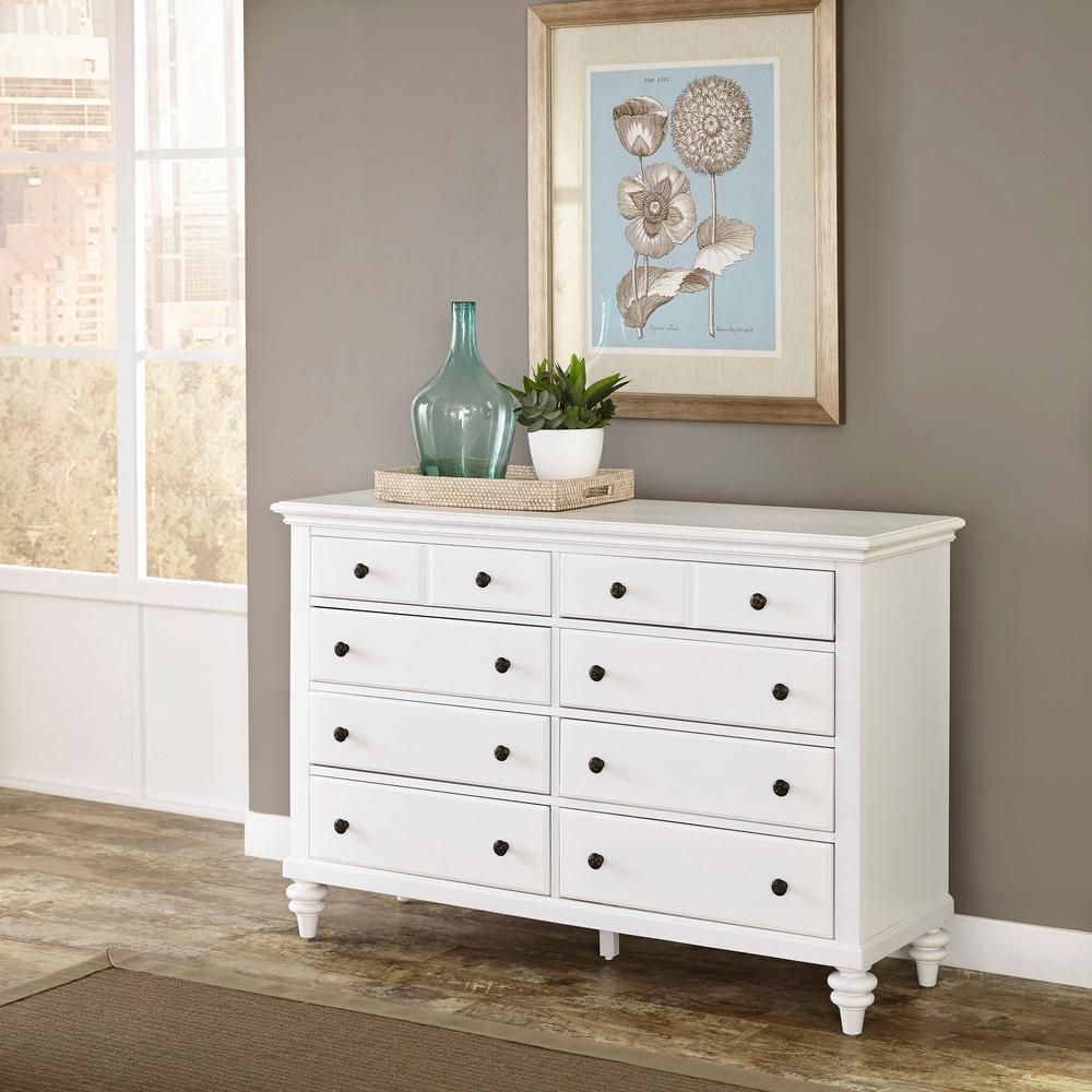 Bermuda 6-Drawer White Dresser