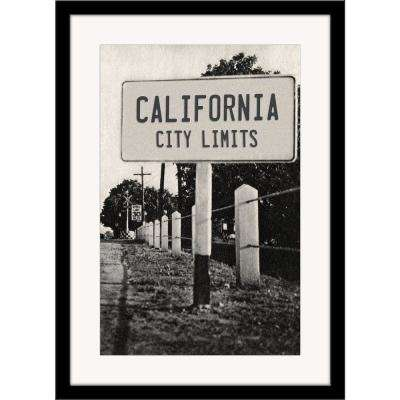 "27 in. x 36 in. ""California City Limits"" Framed Photographic Print"