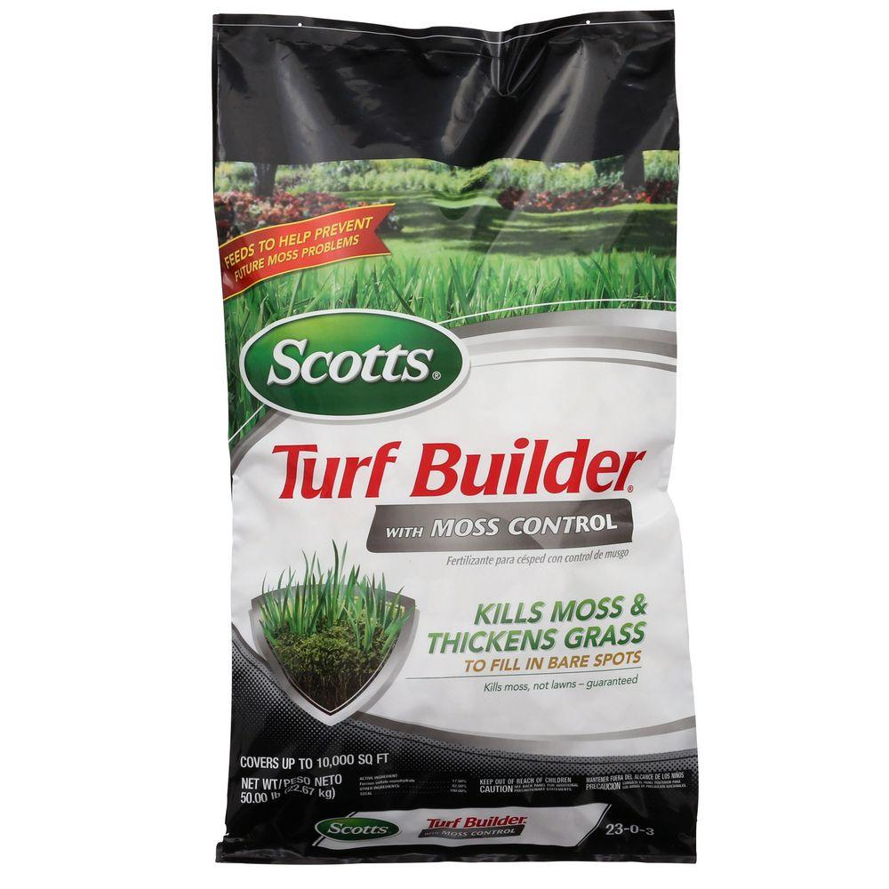 Scotts Turf Builder 10,000 sq. ft. with Moss Control Lawn Fertilizer