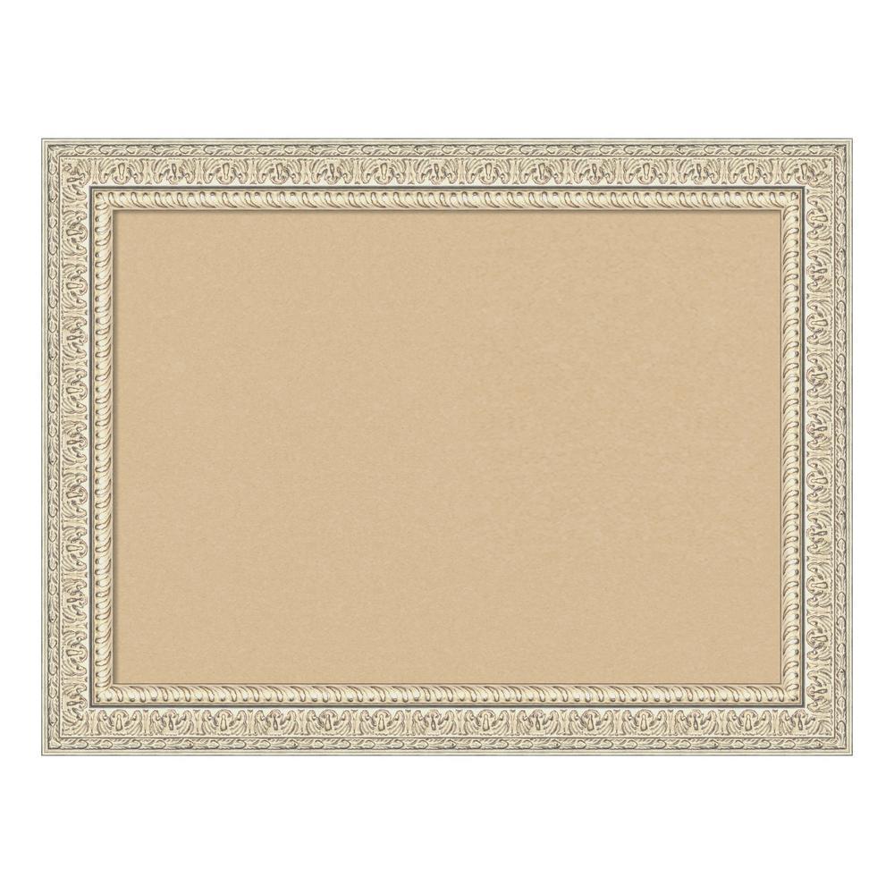 Fair Baroque Cream Framed Beige Cork Memo Board