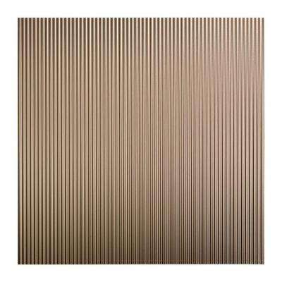 Rib - 2 ft. x 2 ft. Lay-in Ceiling Tile in Brushed Nickel