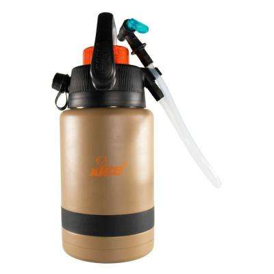 Pump2Pour 1 Gal. Brown Insulated Jug With Hose and Spout