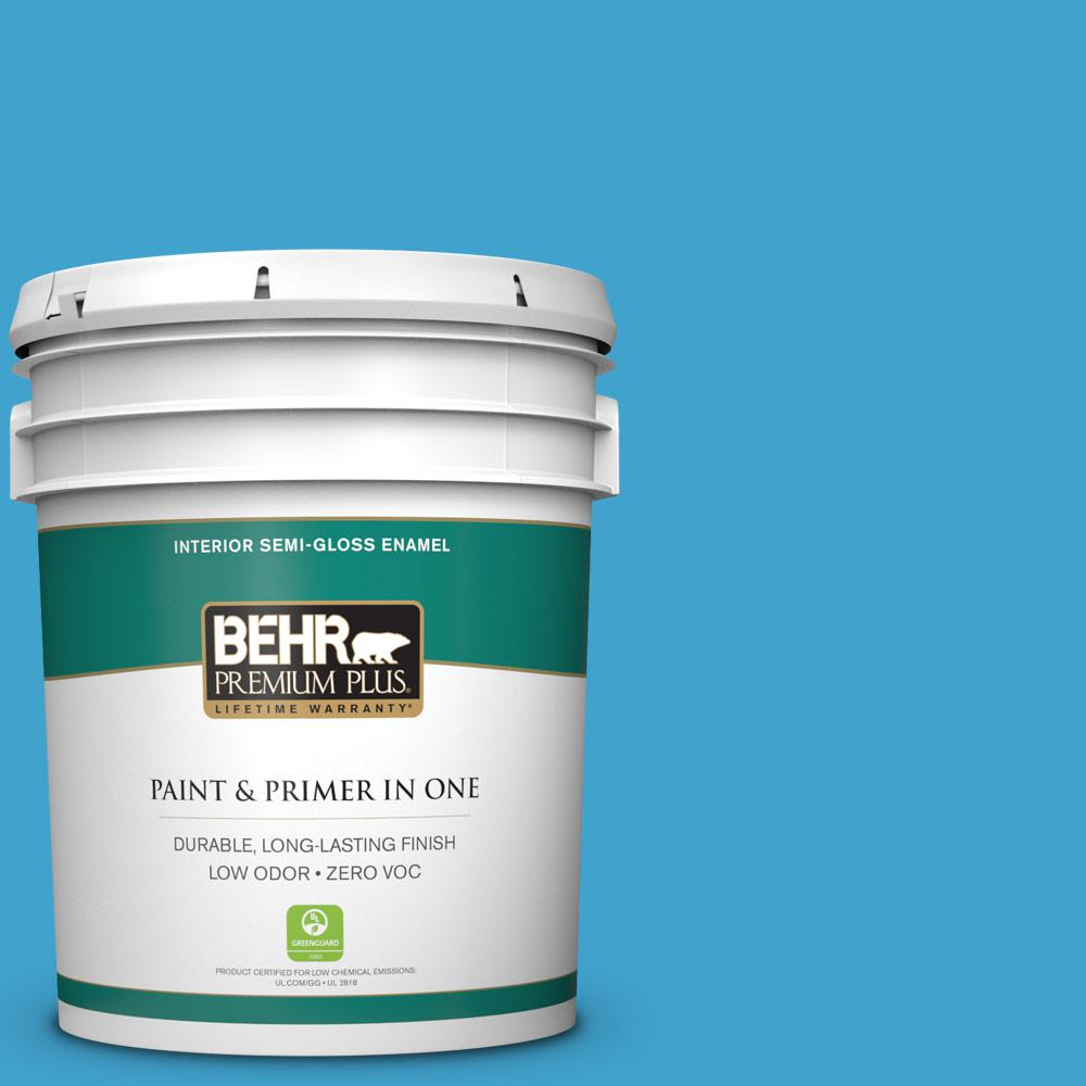5-gal. #540B-6 Sea Ridge Zero VOC Semi-Gloss Enamel Interior Paint
