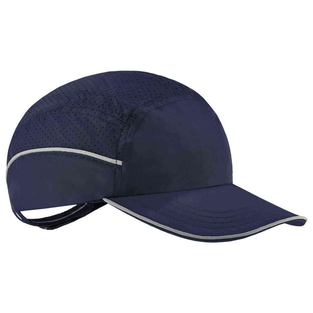 Skullerz 8955 Long Brim Navy Lightweight Bump Cap Hat