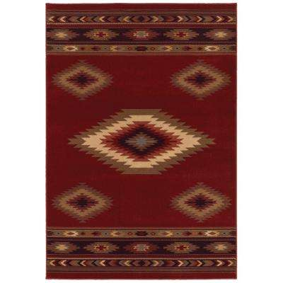 Aztec Red 7 ft. 10 in. x 10 ft. Area Rug