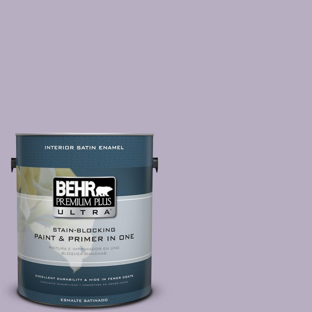 1-gal. #BIC-07 Virtuous Violet Satin Enamel Interior Paint