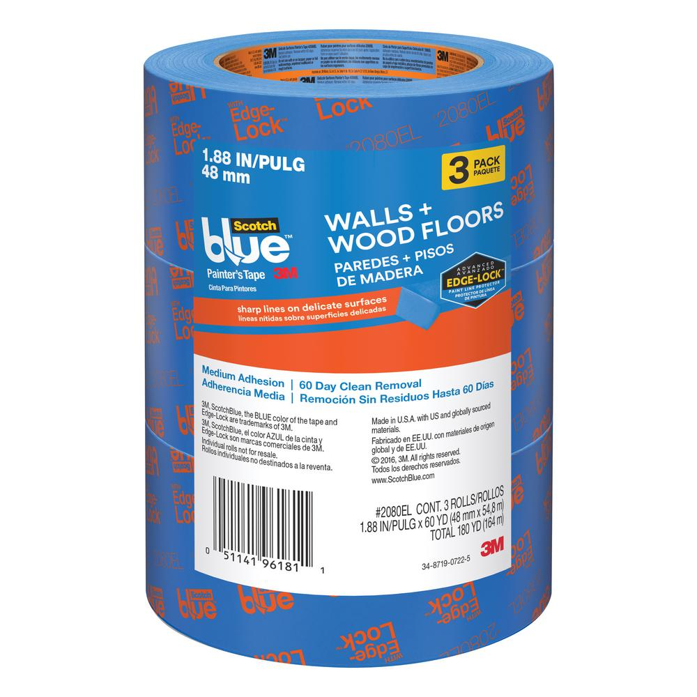 ScotchBlue 1.88 in. x 60 yds. Walls and Wood Floors Painter's