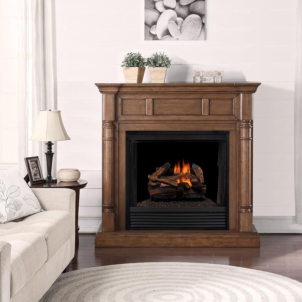 24 in. 45,000 BTU Vented Natural Gas Fireplace Log Set