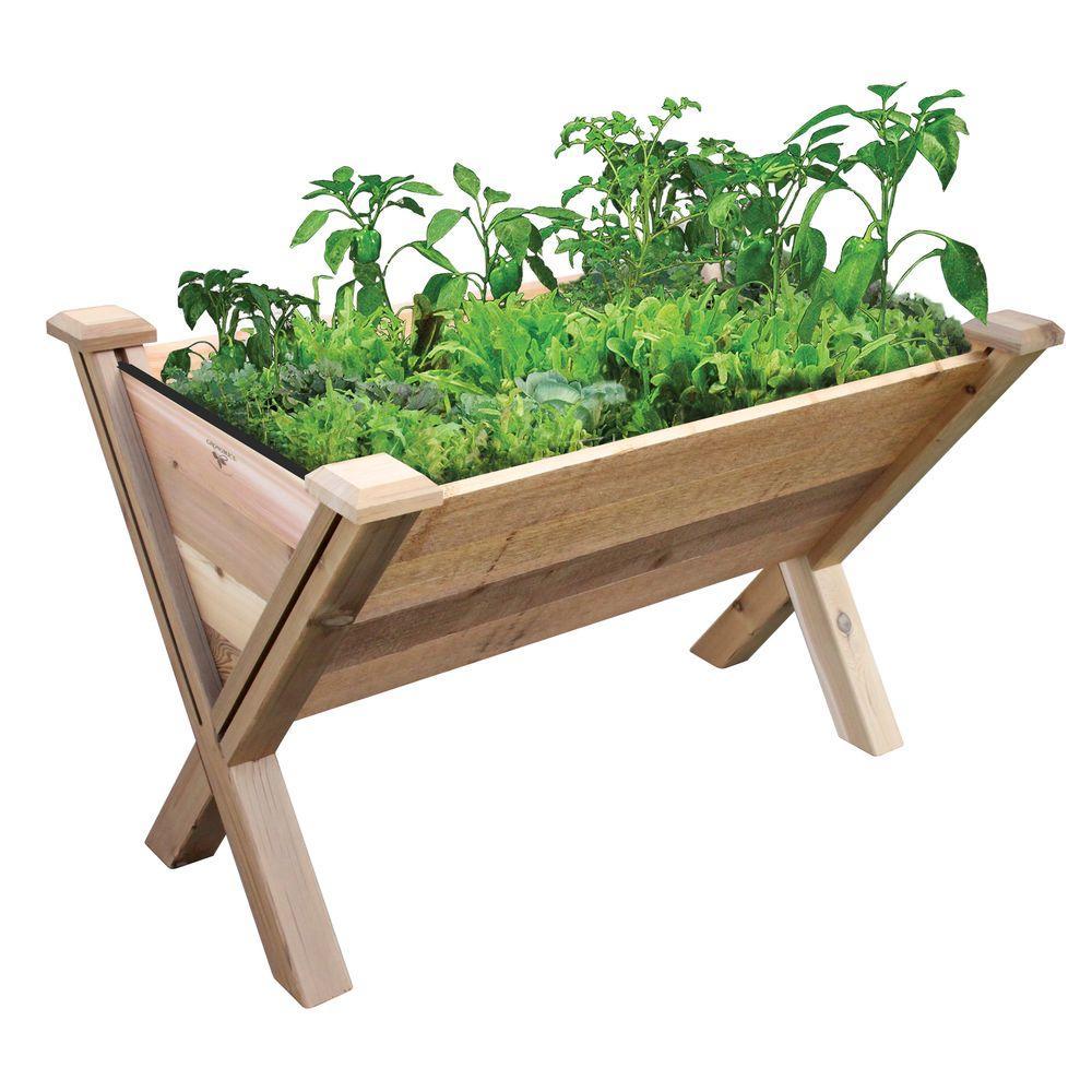 48 in. x 30 in. Rustic Cedar Modular Eco Wedge Planter