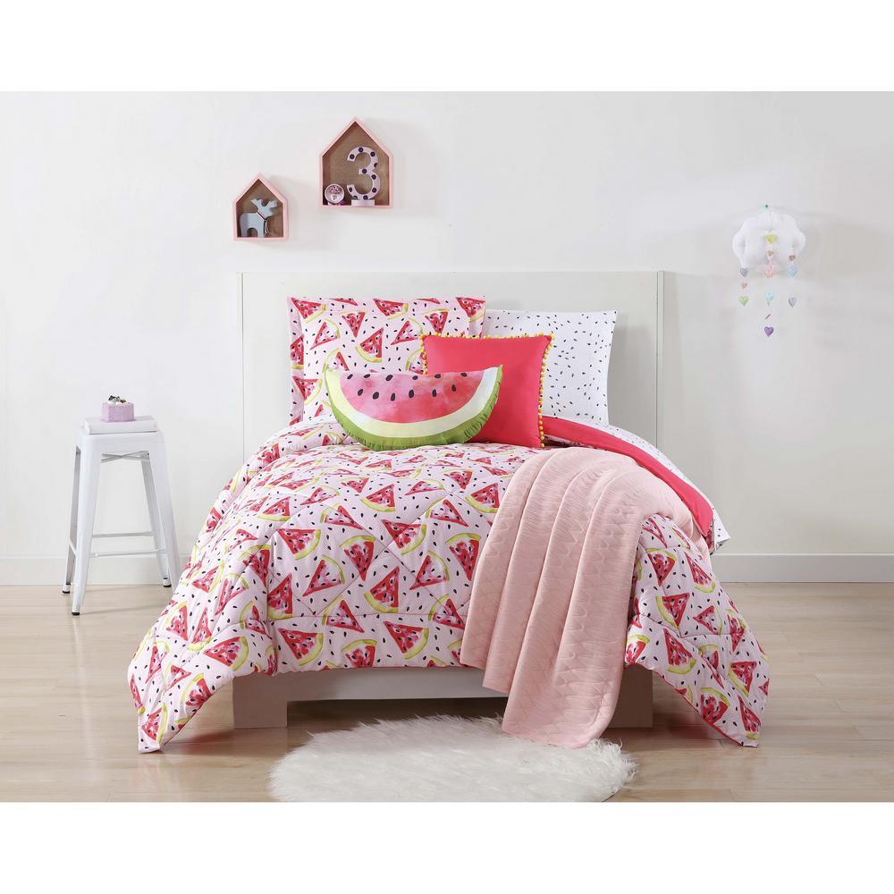 Fruity Printed Multiple Full / Queen Comforter Set