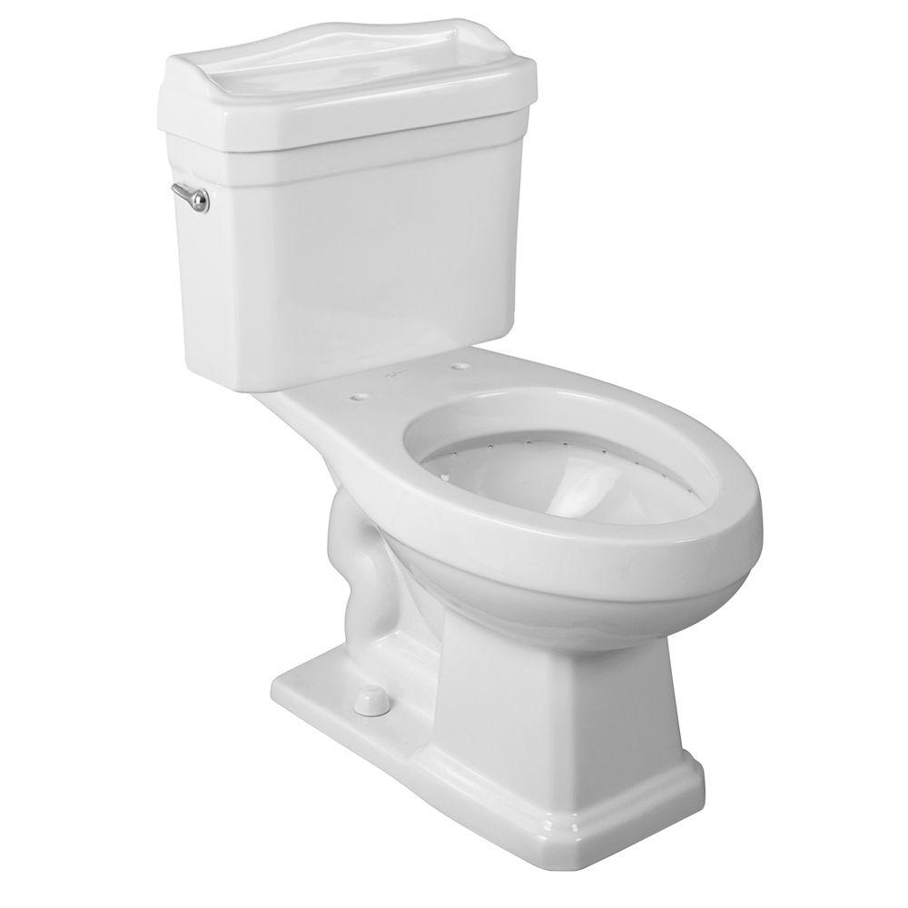 Foremost Series 1930 2-Piece 1.6 GPF Single Flush Elongated Toilet in White