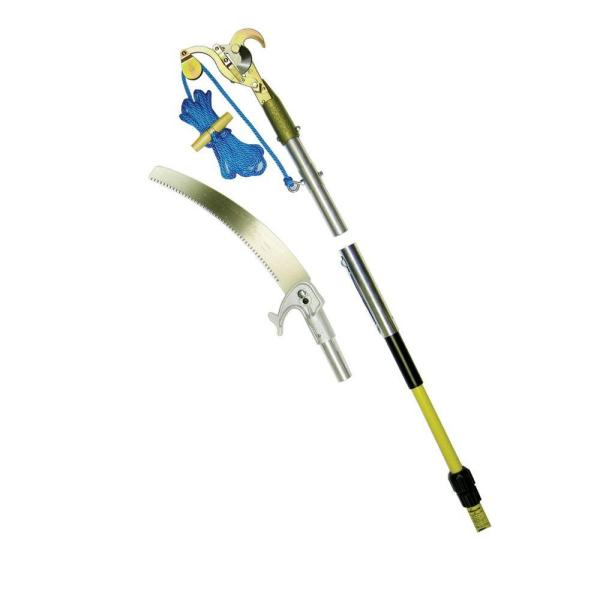 6-12 ft. Telescoping Pole with Pruner and Pole Saw