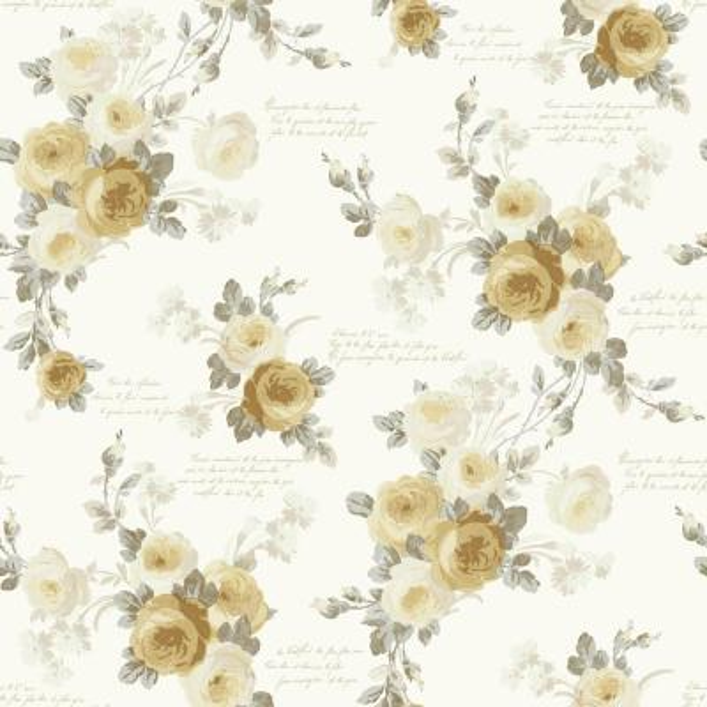 56 sq. ft. Heirloom Rose Removable Wallpaper