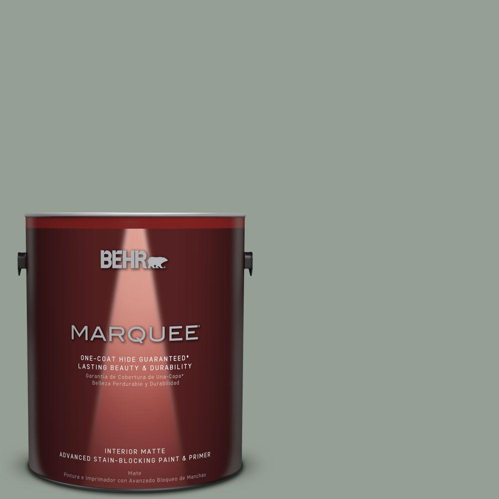 1 gal. #N400-4 Forest Path One-Coat Hide Matte Interior Paint