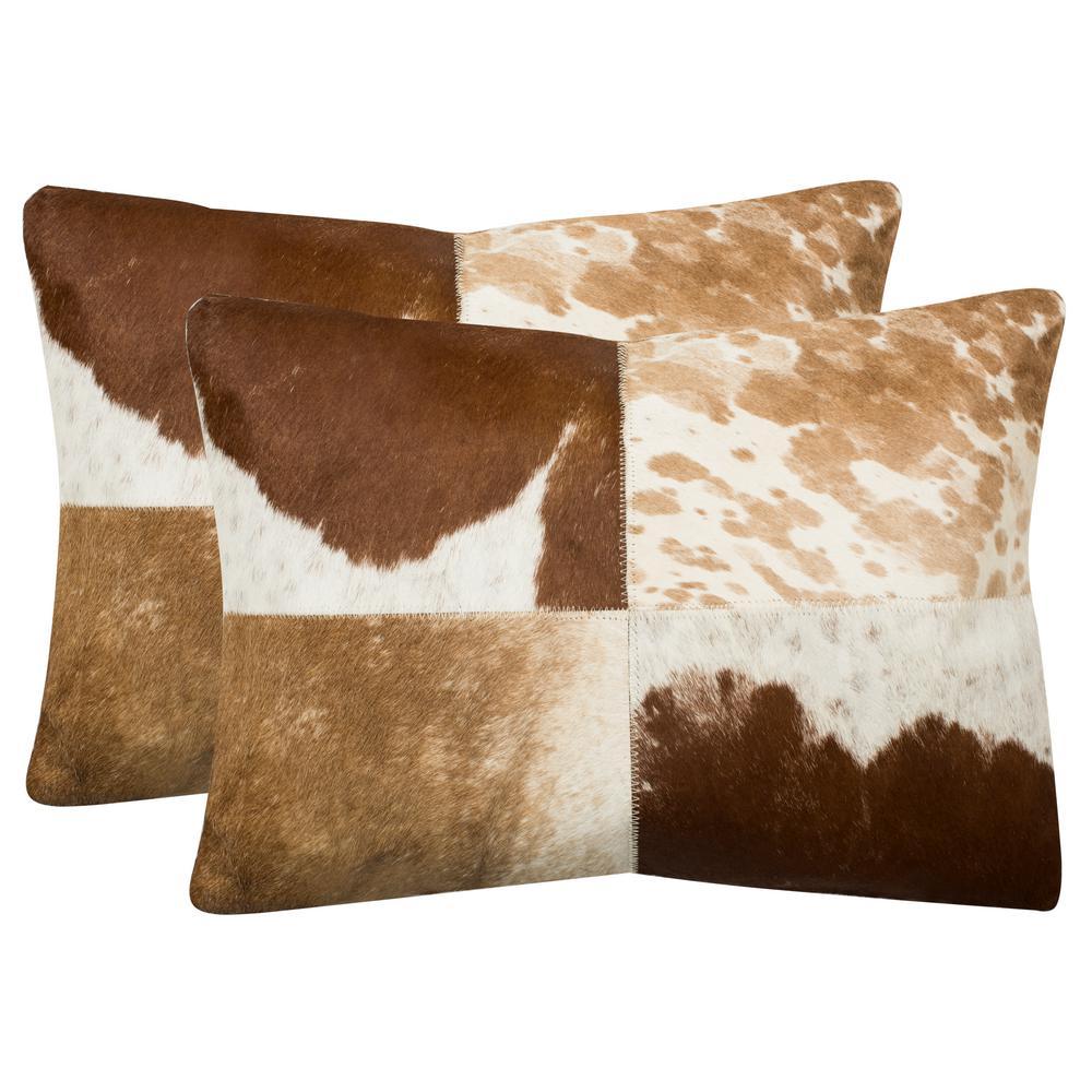 Safavieh Carley Cowhide Pillow Set Of 2 Dec205a 1420 Set2 The