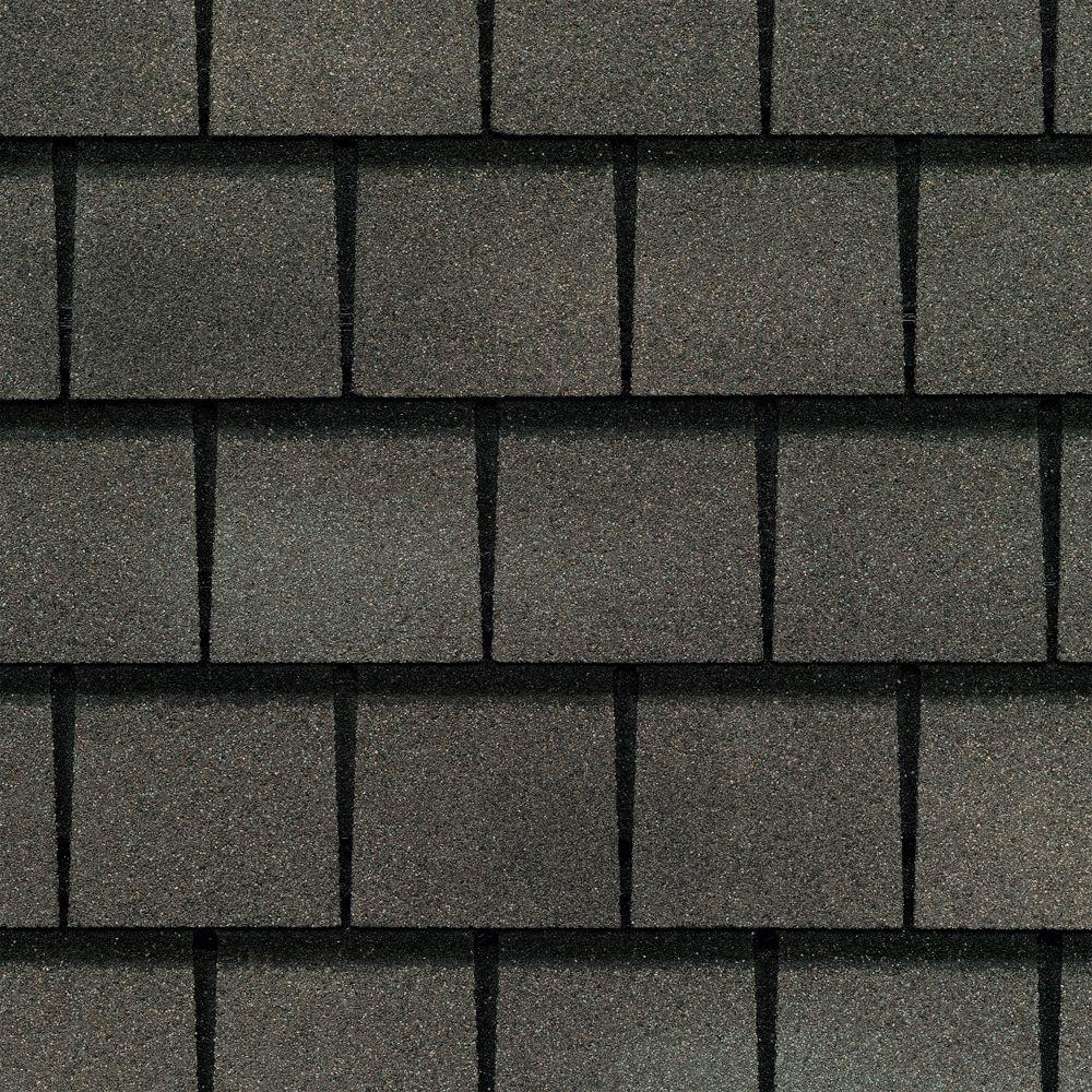 GAF Slateline Value Collection Weathered Slate Lifetime Architectural Shingles (33.3 sq. ft. per Bundle)