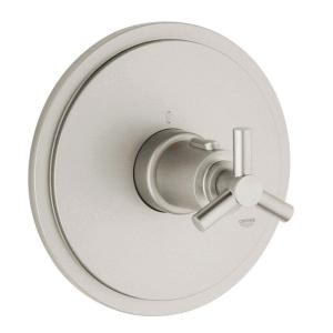 GROHE Atrio Single Handle Thermostat Valve Trim Kit in Brushed Nickel (Valve... by GROHE