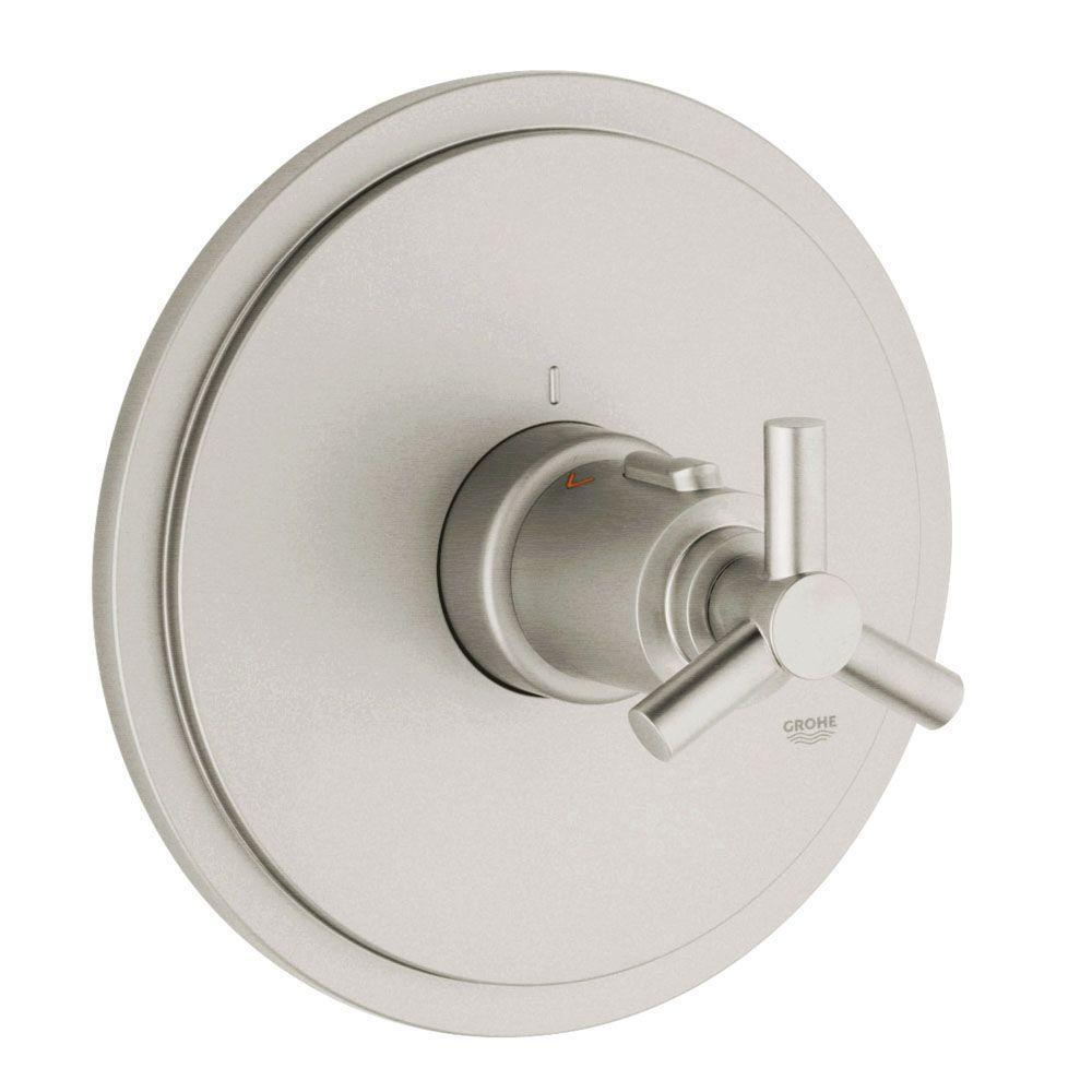 Atrio Single Handle Thermostat Valve Trim Kit in Brushed Nickel (Valve Sold Separately)