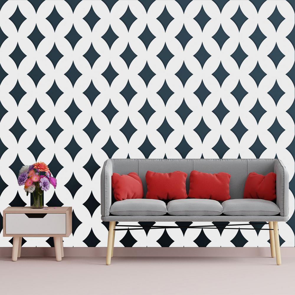3/8 in. x 15-3/4 in. x 15-3/4 in. Medium Gresham White Architectural Grade PVC Decorative Wall Panels