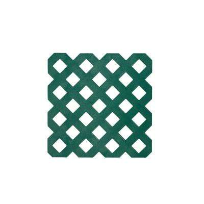 0.125 in. x 48 in. x 8 ft. Forest Green Privacy Plastic Lattice (2-Pack)
