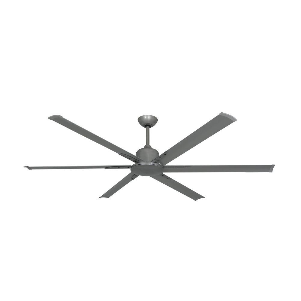 TroposAir Titan II 72 in. Indoor/Outdoor Brushed Nickel Ceiling Fan with Remote Control