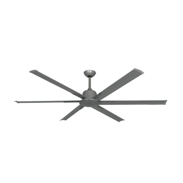 Titan II 72 in. Indoor/Outdoor Brushed Nickel Ceiling Fan with Remote Control