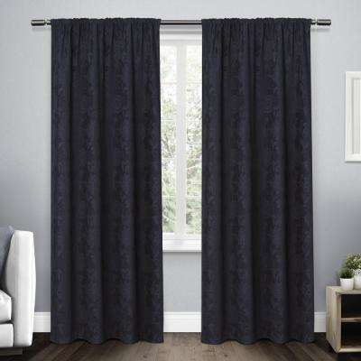 navy and gray curtains aztec pattern elle navy heavyweight blue curtains drapes window treatments the home depot